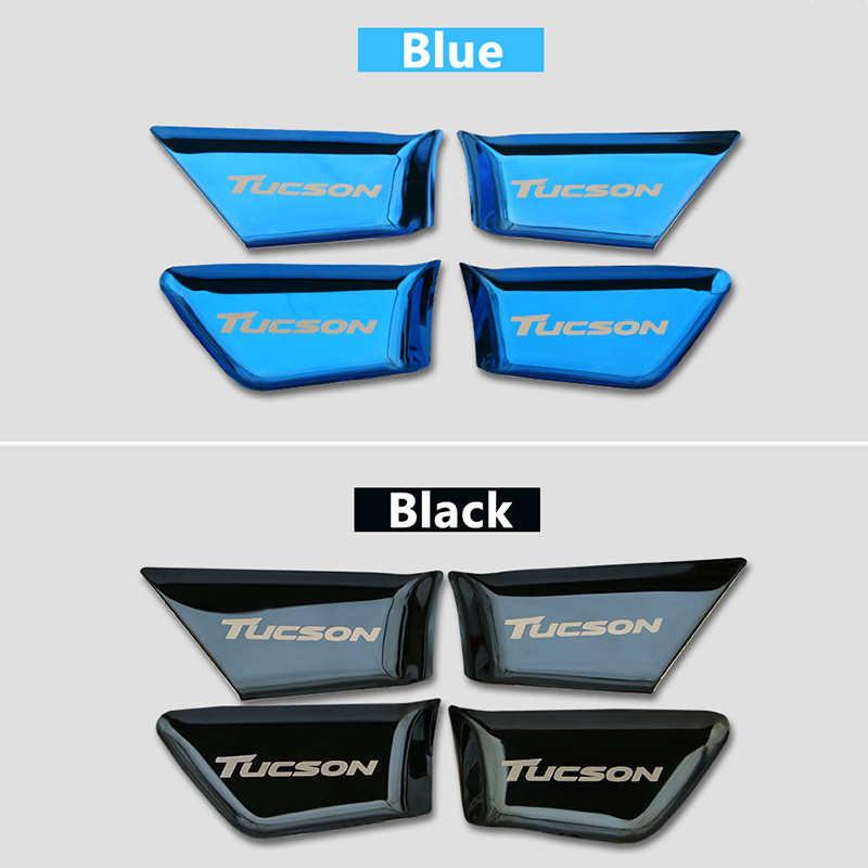 Paslanmaz çelik araba kapı kase Sticker ayar kapağı iç kalıp Hyundai Tucson 2015 2016 2017 2018 2019 2020 aksesuarları
