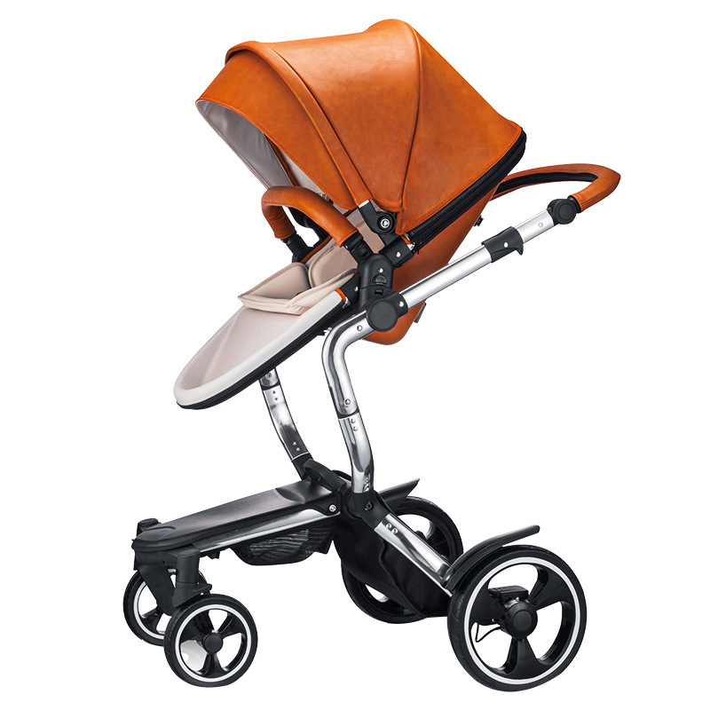Luxury 2 in 1 Baby Stroller  Four wheels aluminum alloy metal  Folding Baby Carriage For Newborns Poussette Kinderwagen hot sale multi function ultra light baby stroller for children four wheels folding poussette pram for newborn infant carriage