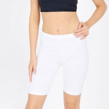 6 colors Women Fashion Solid High Elasticity Gym Active Cycling solid fitness shorts feminino chores para mujer 3