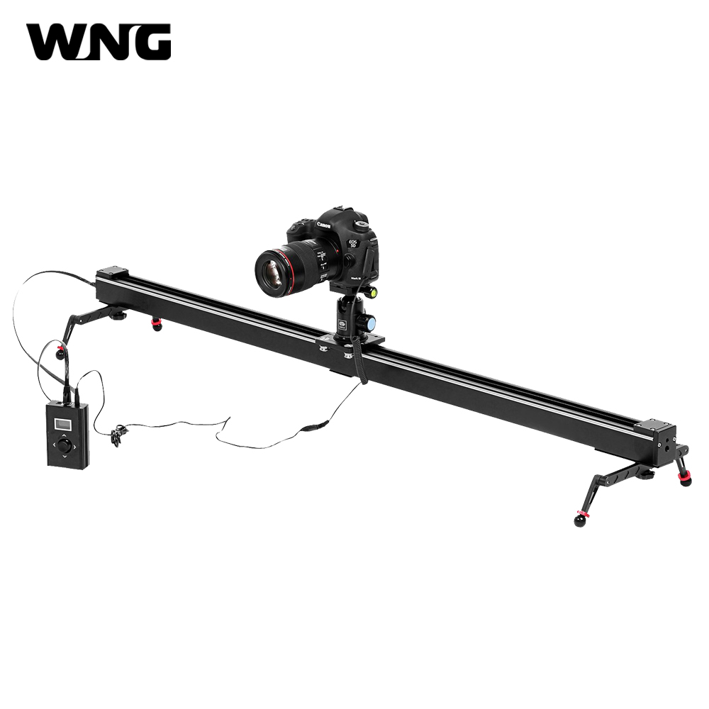 цена на 1M 100CM Electronic Control Camera Slider Track Dolly Slider Time Lapse and Video Photography Video DSLR Camera Stabilizer