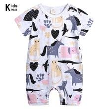 2019 Summer New Style Short Sleeved Girls Baby Rompers Cotton Newborn Body Suit Pajama Boys cartoon Animal