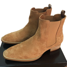 Acevedo Brand Chelsea Boots Classical Vintage men West Boots Suede Leather Ankle Boots Flat fashion Crepe Bottom Botas male