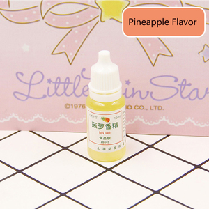 Image 4 - 10ML Slime Edible Flavor DIY Toys for Children Modeling Clay Smell Sweet Pineapple Strawberry Flavors Slime Material Kids Gift