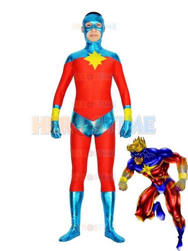 Captain Mar-Vell Costume halloween cosplay party fullbody Captain Superhero costume show zentai suit hot sale