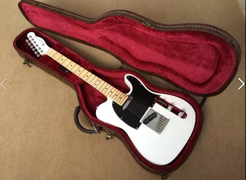 special price wholesale factory custom white body electric guitar with black pickguard chrome. Black Bedroom Furniture Sets. Home Design Ideas