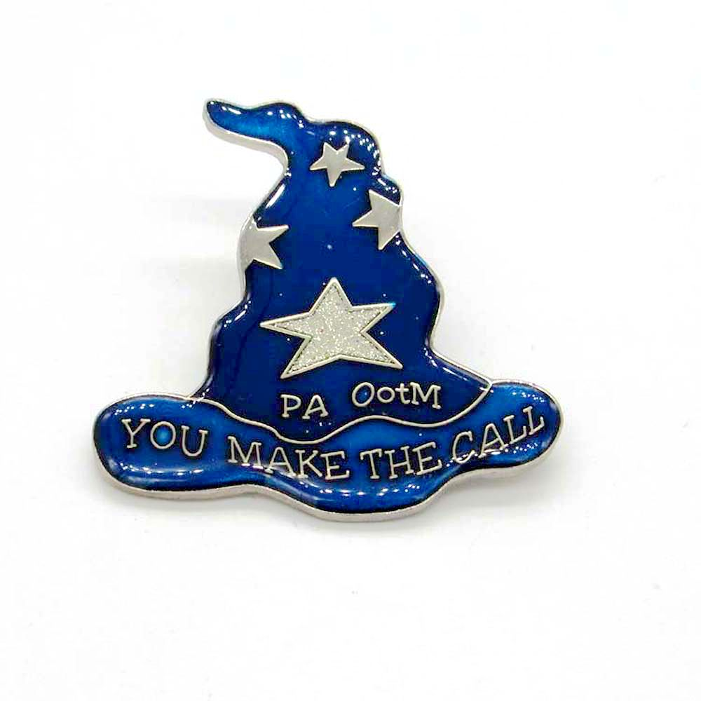 FLASH SALE] 2017 New design Magic Hat pin badge custom soft enamel