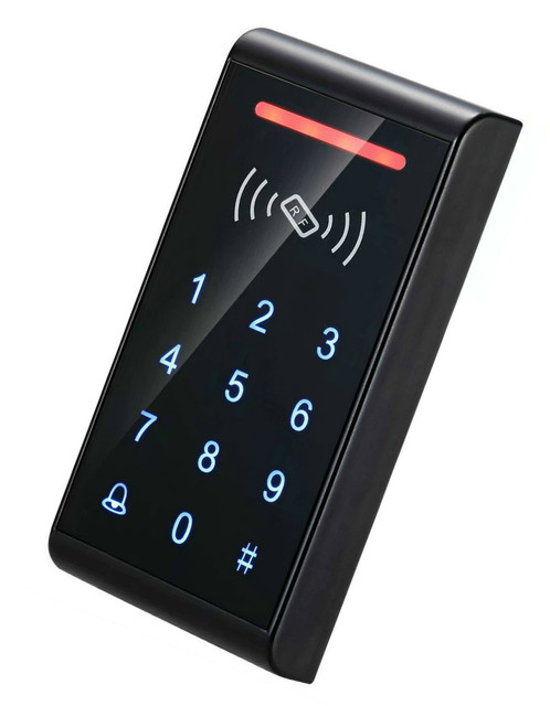 Free Shipping  Touch-Screen RFID access control with EM/ID card and password,800 card Door Access Control System