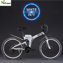 Original X Front brand 21 speed 26 inch 20A 48V 500W Lithium Battery Electric folding Mountain