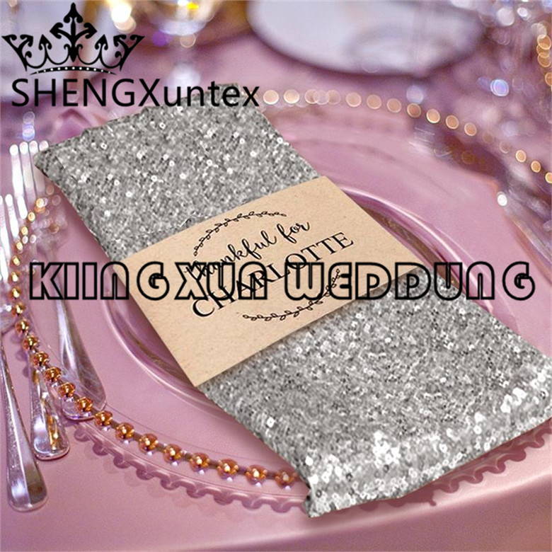 Good Looking 200pcs Sold Sequin Table Napkin For Wedding Event Table Cloth Decoration