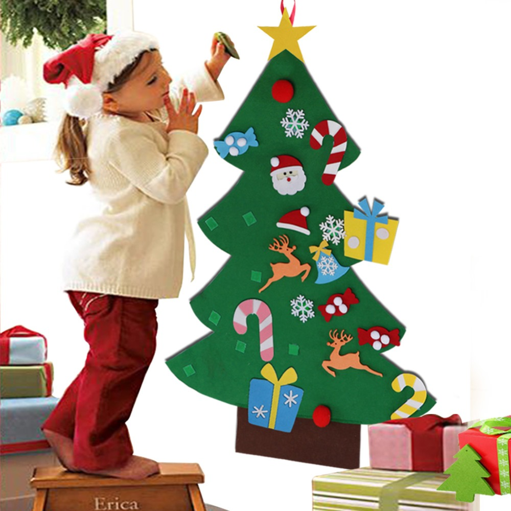 Kids DIY Felt Christmas Tree Decorations for Home New Year 2019 ...