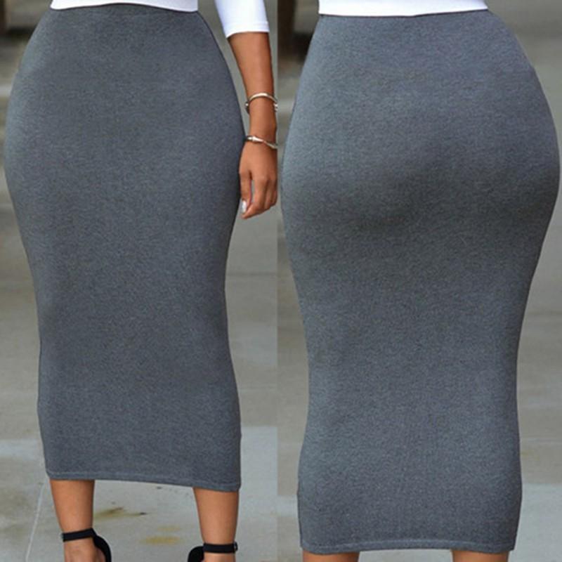 Black-Skirt-Women-Femme-Summer-Gonna-Anklet-Length-Saia-Fiesta-Tight-Pencil-Long-Maxi-Slim-Skirts