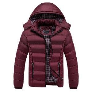 Image 2 - Faliza新メンズ冬のジャケット暖かい男性コートファッション厚い熱男性パーカーカジュアル男性ブランド服プラスサイズ 6XL SM MY G