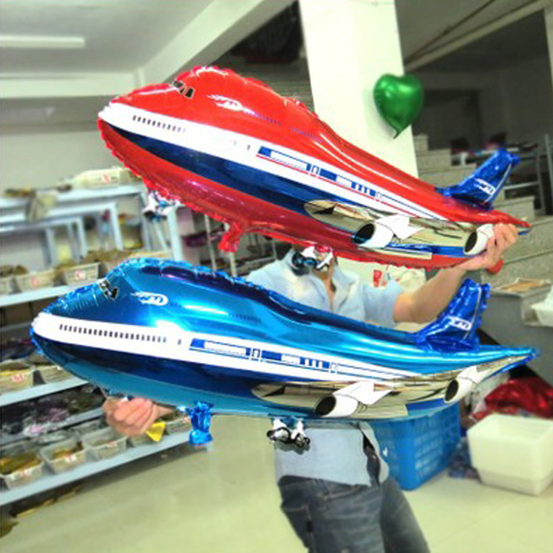 85*45cm Large Aeroplane Cartoon Number Foil Balloon Model Toys Outdoor Airplane Balloon Party Hat Toy Birthday Toys For Children
