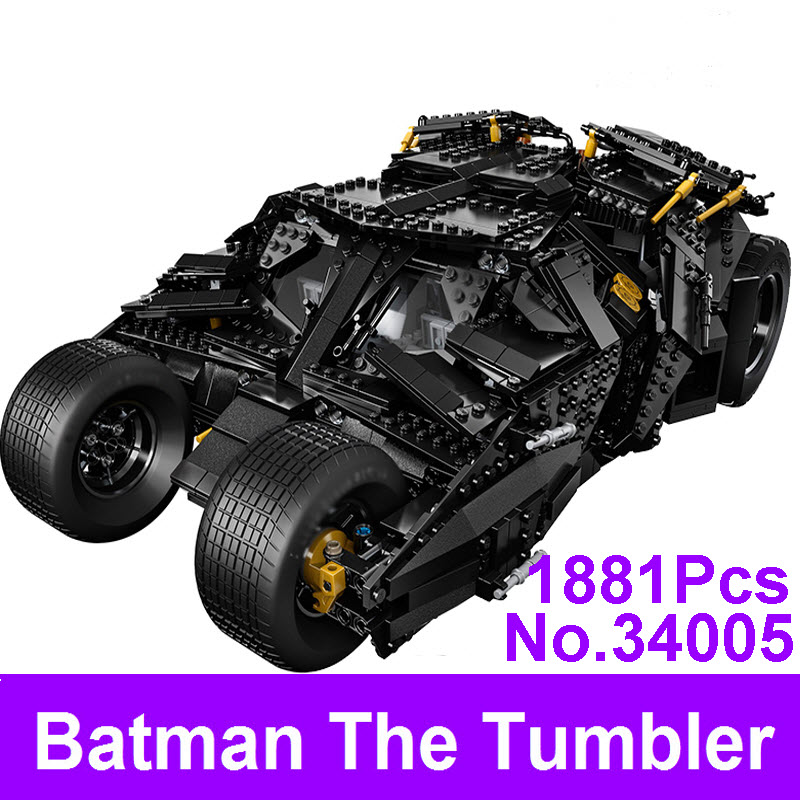 2017 LEPIN 34005 Decool 7111 Super Heroes Batman Tumbler Blocks Bricks DIY Educational Toys For Children Compatible Bela 76023 decool 7118 batman chariot super heroes of justice building block 518pcs diy educational toys for children compatible legoe