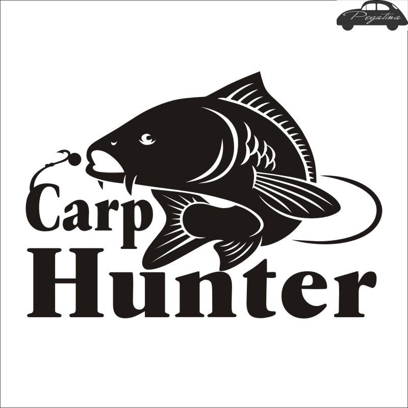 Fishing Carp Hunter Fishing Car Boat Sticker Fish Decal Posters Wall Decals Pegatina Decor MuralFisher Sticker