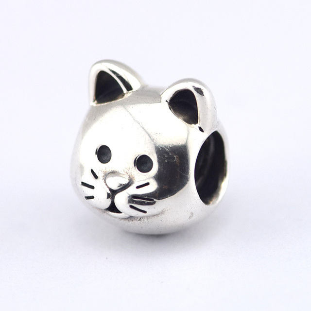 pandora charms silver cat