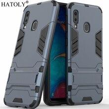 HATOLY For Armor Case Samsung Galaxy A20e Robot Silicone Rubber Hard Back Phone Cover A202F A 20e SM-A202F