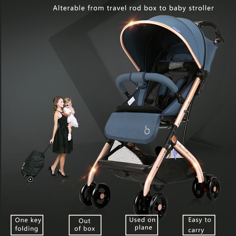 Super light travel baby car one key folding baby stroller Baby Carriage 8 Wheels Baby Pram High View Travel free gifts send