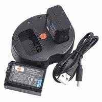 DSTE 2 шт. NP-FW50 NP-FW50 литий-ионный аккумулятор Батарея с двойным USB Зарядное устройство для sony NEX-7 NEX-5N NEX-F3 ST-A37 NEX-3KS A7 a6400 Камера