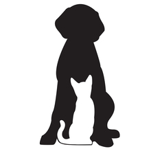 Dog and Cat Pet Silhouette car window sticker vinyl decal funny JDM and all the smooth surface