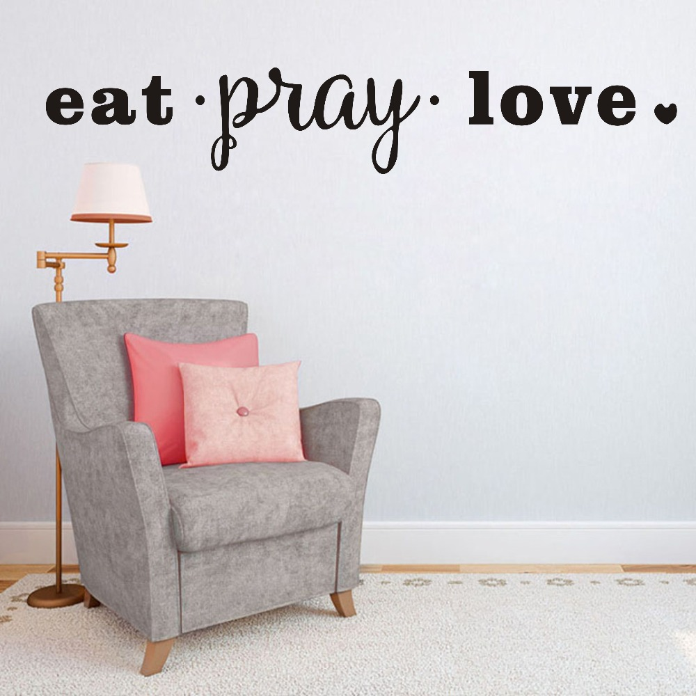 Movie Life Quotes Eat Pray Love Decals Cartoon Home Decor