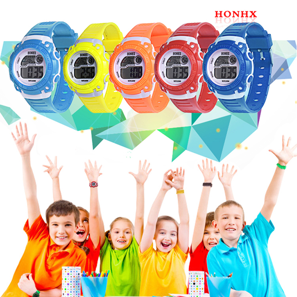 Orologi per bambini 2018 New Colorful Digital Watch Orologio Fashion Electronic Watches per bambini Kids Boy Watch uomo Saat