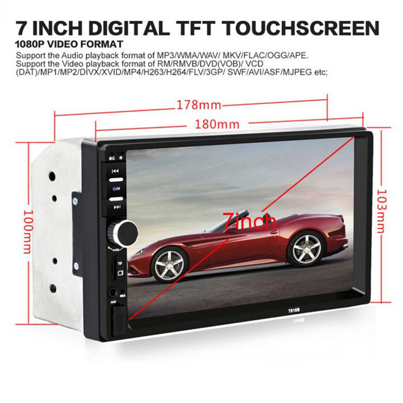 Image 4 - 7 Inch Car MP4 MP5 Players Bluetooth Central MultimediaTouch Screen With Night Vision Rear View Camera Auto Radio Video Player-in Car MP4 & MP5 Players from Automobiles & Motorcycles