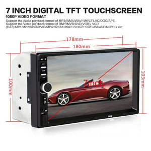 Image 4 - 7 Inch Car MP4 MP5 Players Bluetooth Central MultimediaTouch Screen With Night Vision Rear View Camera Auto Radio Video Player