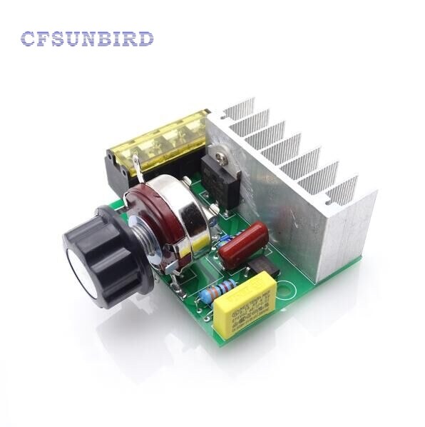 4000W 220V SCR Imported High Power Silicon Control Voltage Regulator Aiming Adjust Speed Thermoregulation