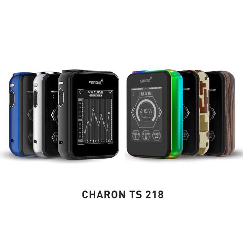 Original Smoant Charon TS 218 Touch Screen Box Mod 218w electronic cigarette multi-color vape mod vs smok g-priv electronic cigarette kits smoant charon tc 218 rdta kit vaporizer vape box mod e cigarette hookah with battlestar rdta x2077
