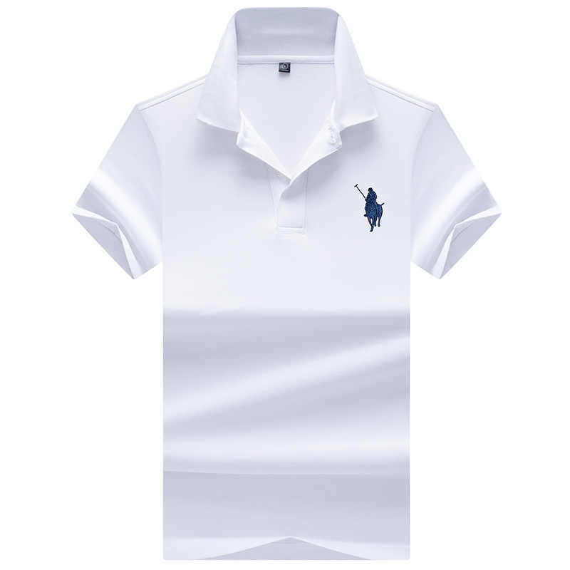 Men Polo Shirt Embroidered Pattern Fashion Polo Men Stretchy Short Sleeve Polos Para Hombre Brand Summer Tops YP9097