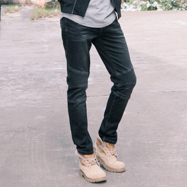 Pantacourt Jeans Coton Noir Chaud Hiver Droite Homme Nouveau 2017 BaqCnS