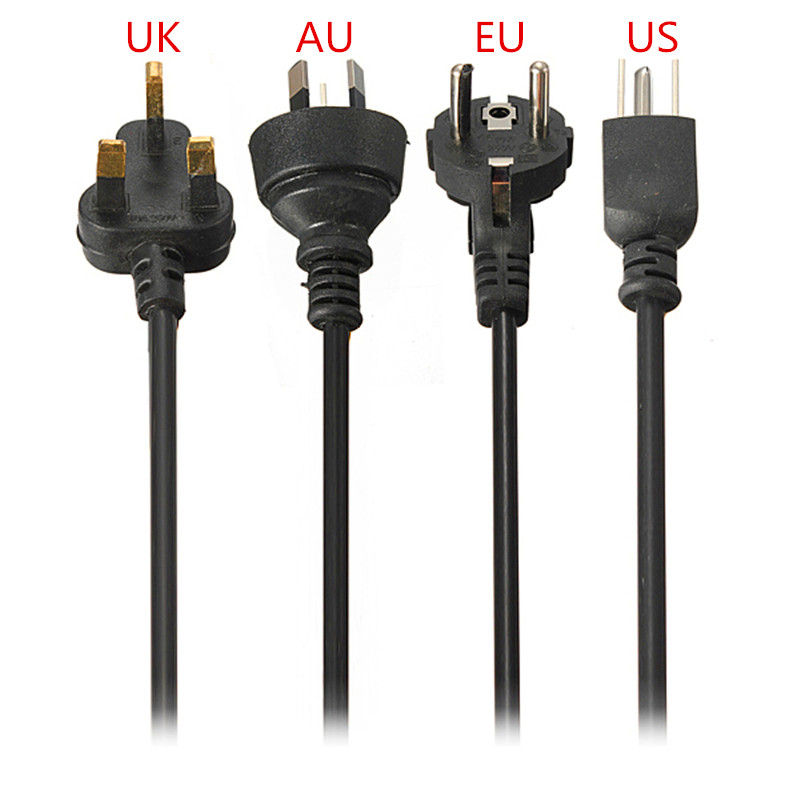 1PC EU/US/AU/UK 4Standards 1.2m 3-Prong AC Power Supply Adapter Cord Cable Power Cords Charging Line brand new eu us au uk plug 3 prong 1 2m notebook laptop power cable power supply adapter cable cord for charger adapter cable