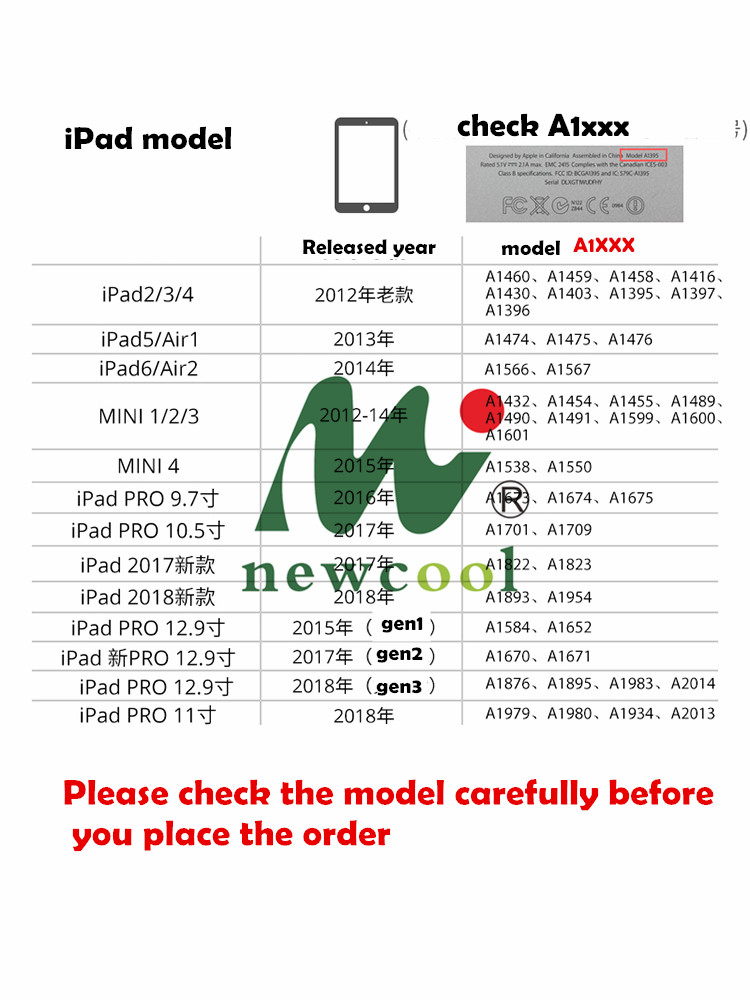 Magnolia pu kaitseümbris Smart Pro iPad Pro 9,7 10,5 11 12,9 - Tahvelarvutite tarvikud - Foto 5