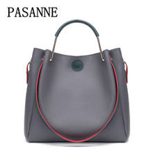 New Women Bag Handbag Leather Vintage PASANNE Brand Ladies Woman Handbags Girl Fashion Female Bags Crossbody Bag Shoulder Bags