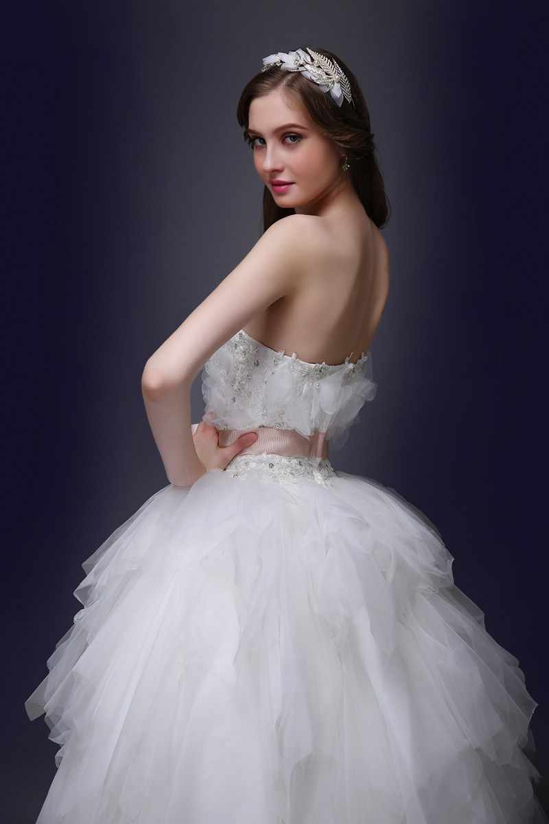 תחרה שמלות כלה כדור שמלת סטרפלס טול פרחי חרוזים חתונת שמלות חתונה חתונה כלה הכלה שמלות Weddingdress