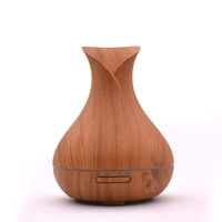 Essential Oil Diffuser Ultrasonic 400ml Air Humidifier Aroma With Wood Grain 7Colorful Changing LED Lights Electric