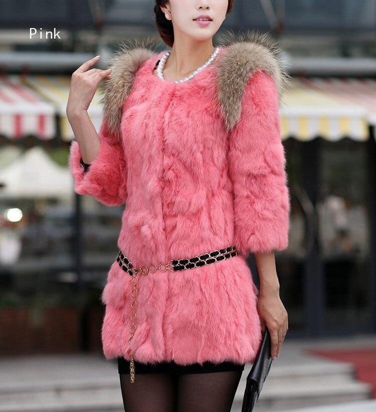 Gratuite 3xl pourpre Avec orange Mode Taille Gilets Laveur rose Épaule Beige Lapin Veste Femmes De noir Nature Manteau D'hiver Raton Véritable Livraison Grande Fourrure dBqnUd