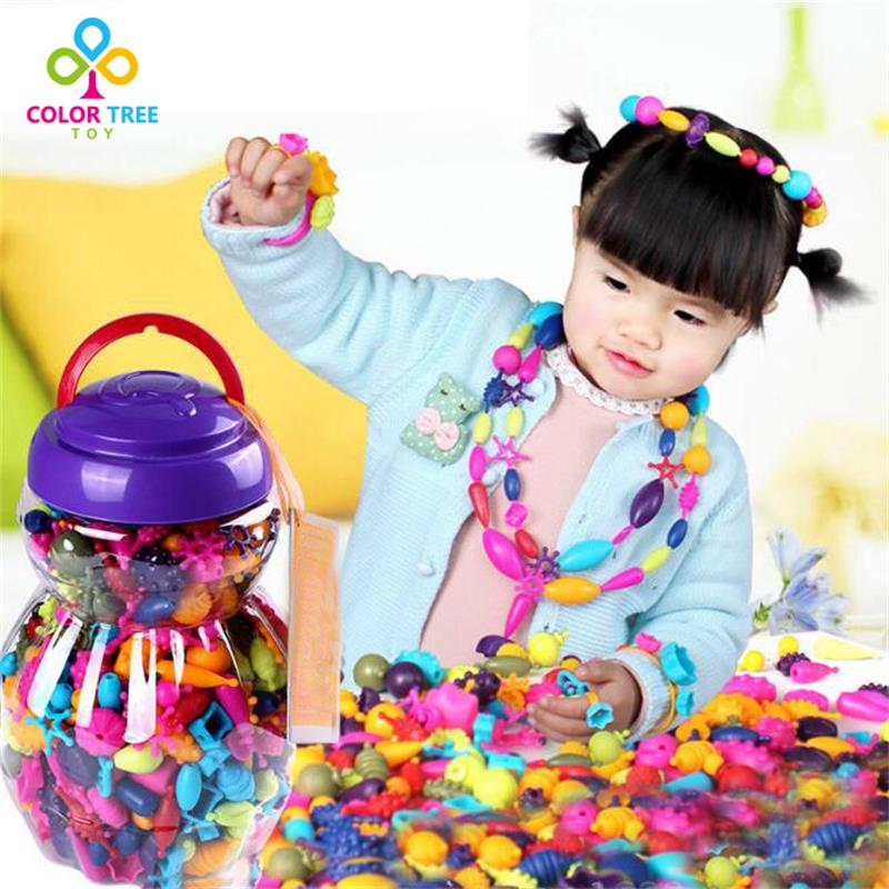 150pcs/set  Kids DIY Educational Toys Design Charms Accessories Beads Handmade Without Rope Birthday Xmas Gifts For Girls cheerlink zm 81 3mm neodymium iron diy educational toys set silver 81 pcs