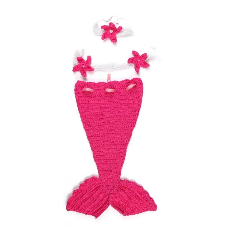 Ganchillo sirena recién nacido traje bebé Crochet perla capullo y ...