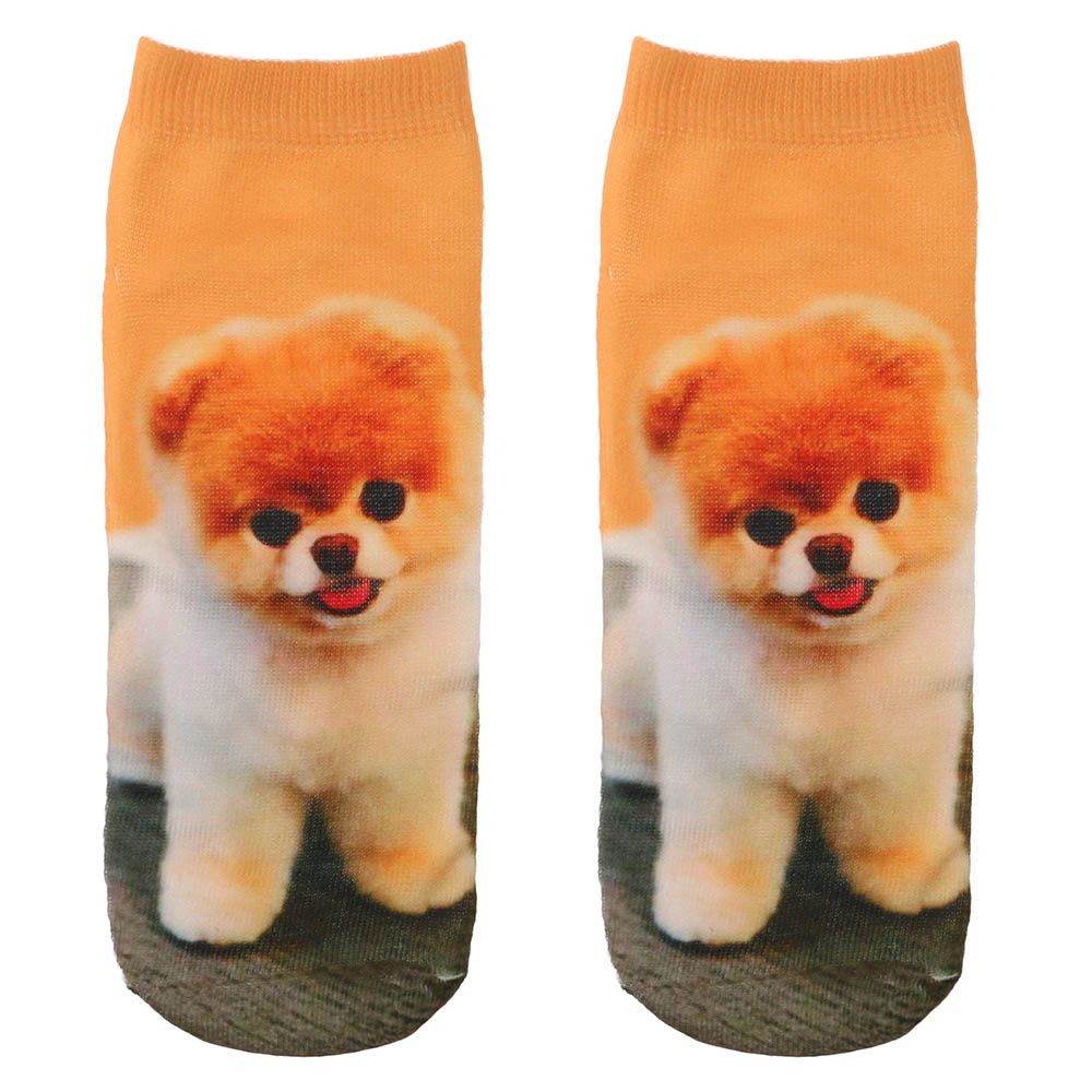 Fashion 3D Cartoon Embroidery <font><b>Animal</b></font> <font><b>Socks</b></font> <font><b>Unisex</b></font> Causal Stereoscopic Cats/Dogs image