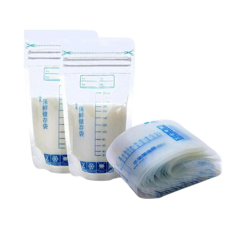 250ml Mother Milk Baby Food Storage Milk Freezer Bags Baby Feeding Bags