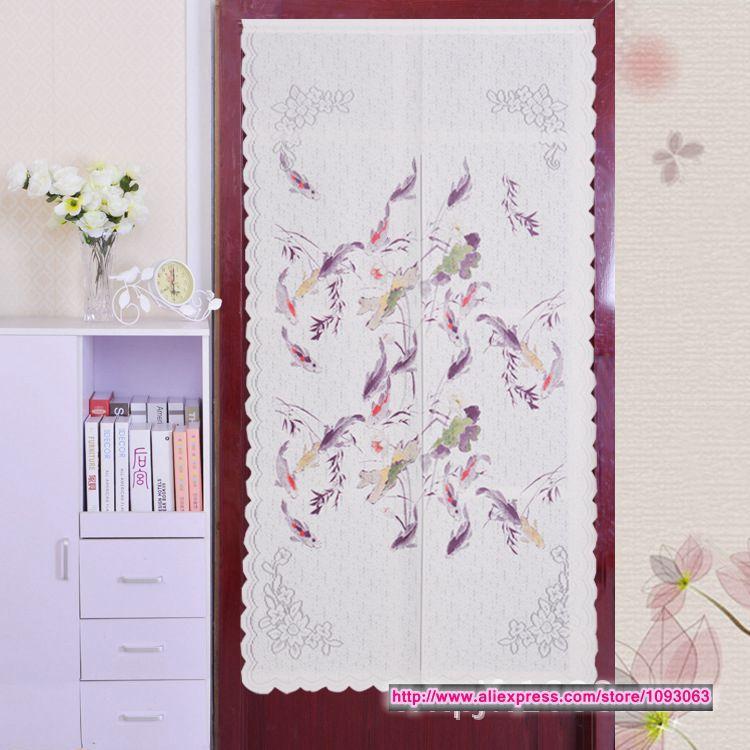 Korean Style Classical Carp Door Curtain Bedroom