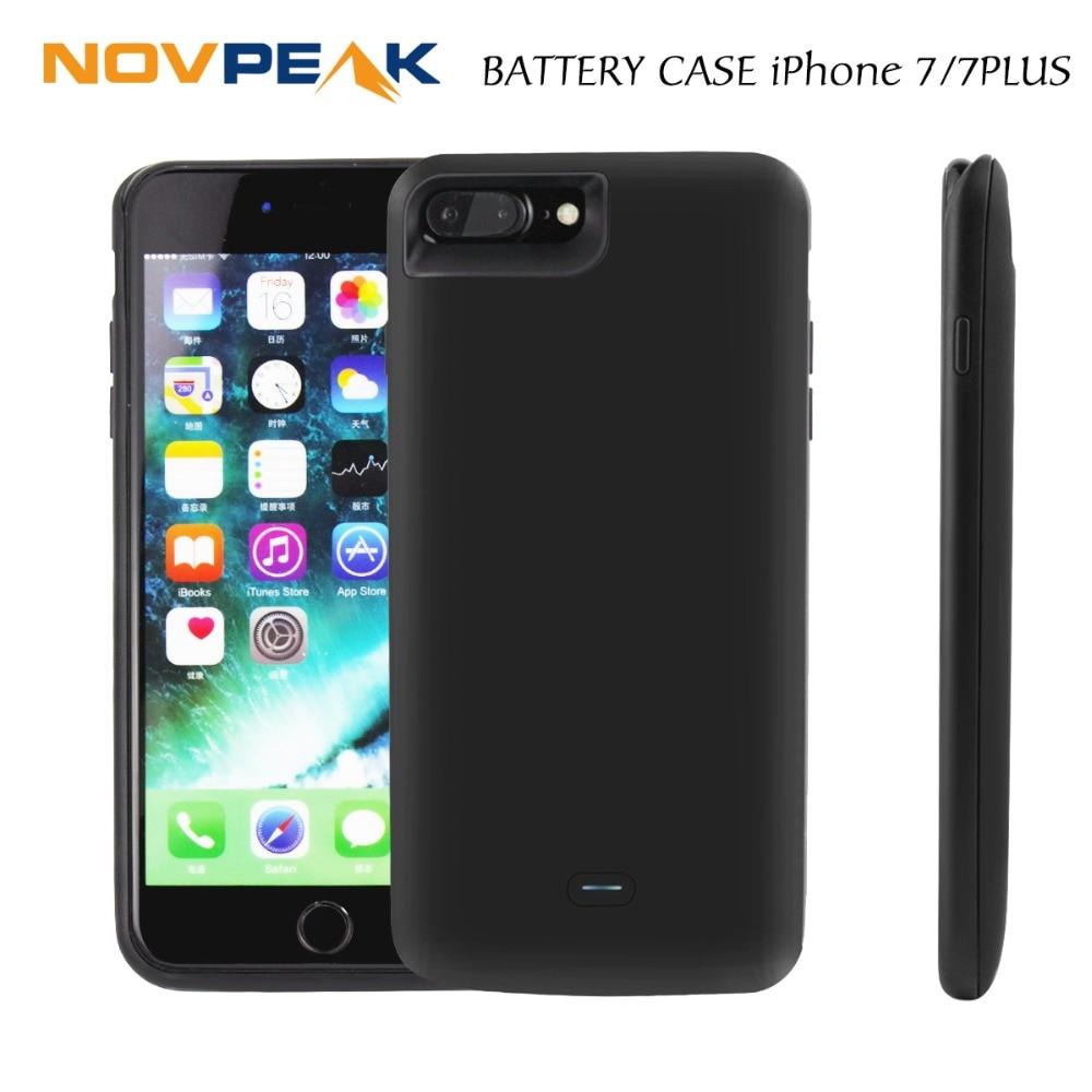 imágenes para Nueva Llegada de Silicio de Batería Externa Del Caso Del Cargador Power Bank Pack para iphone 7 plus 7 Más Caso 2500 mah/5200 mah/3800 mah/7500 mah
