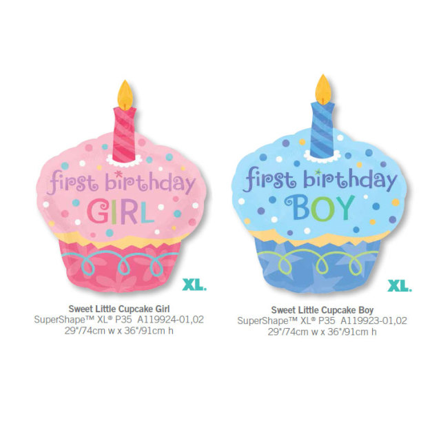 1pcs Giant 1st Birthday Cake Cweet Little Boy Girl Anagram Foil Balloons Baby Party Decoration Cupcake