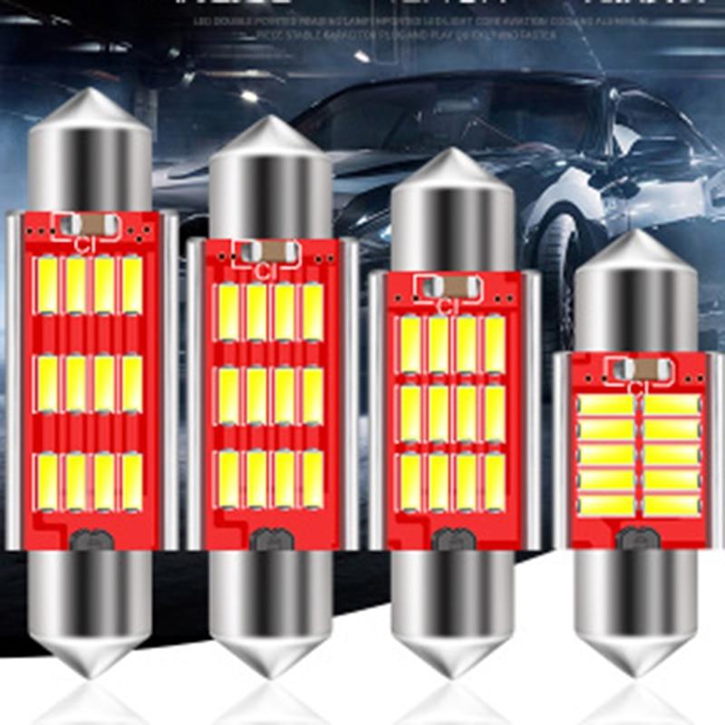 Festone 31 millimetri 36 millimetri 39 millimetri 41 millimetri cupola 12SMD 4014 LED CANBUS Auto Interni luce 5 w Lampadine luci Della Targa di immatricolazione 12 V