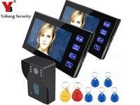 YobangSecurity 7 Touch Screen Video Door Phone Doorbell Intercom Monitor Visual Security IR Camera Bell System Kit Night Vision
