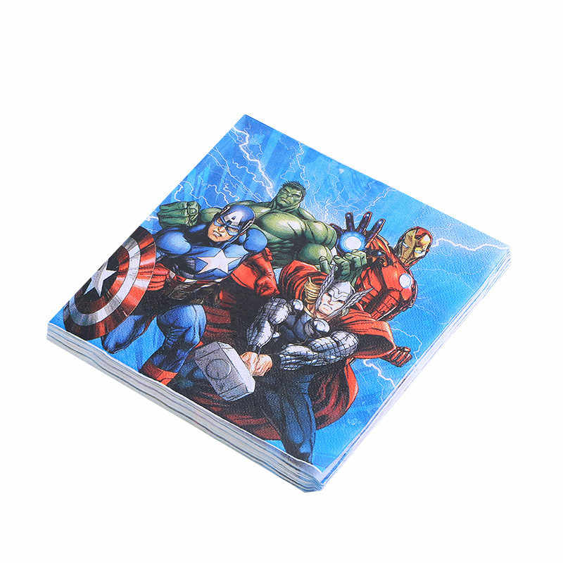 Avengers 1pack/set Kids Birthday Party Wedding Hanging Banners Decoration Family Party Paper Cup Plate Napkin Tablecloth Supply