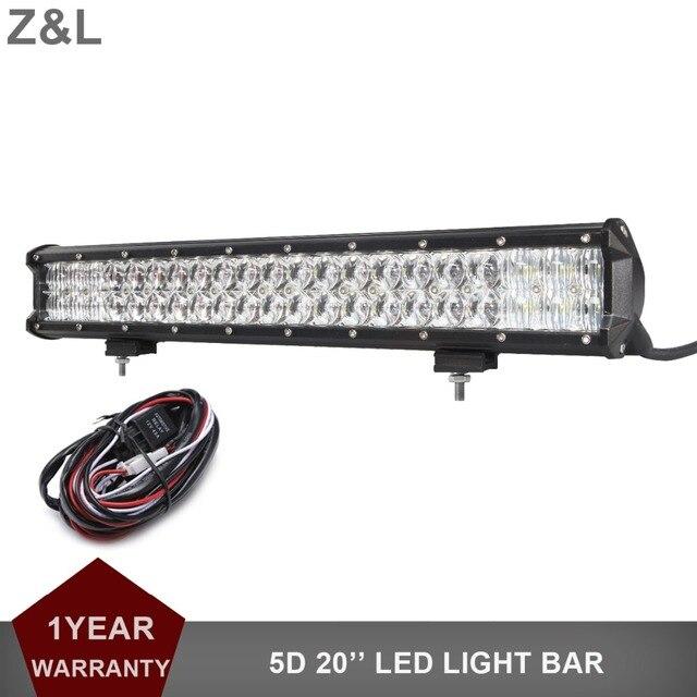 20 Inch Led Light Bar >> Us 74 01 5 Off Offroad 20 Inch Led Light Bar Mobil Suv Truk Pickup 12 V 24 V Eksterior Tambahan Atap Depan Mengemudi Lampu 4x4 Truk Trailer