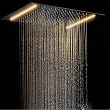 Потолочный светодиодный Светодиодный душевой кран для ванной комнаты, душевой светильник 500*360 мм, душ с дождевой насадкой, спа, встроенный настенный светильник